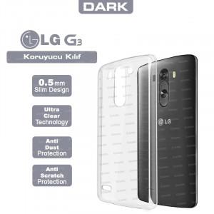 Dark LG G3 0,5mm Ultra İnce Şeffaf Görünmez Kılıf
