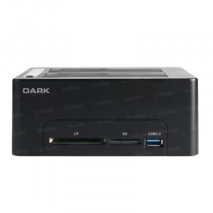 """Dark StoreX DSD27CR 3.5""""/2.5"""" USB3.0 SATA Klon Destekli Bilgisayar Bağımsız Kart Okuyuculu Disk İstasyonu"""