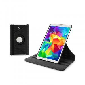 "Dark Samsung Tab S T700 8.4"" 360 Döner Siyah Kılıf"