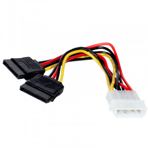 Dark P102 4Pin Molex - 2x15Pin SATA Dönüştürücü Kablo