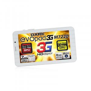 """Dark EvoPad 3G M7220 7"""" 3G SIM Girişli 1.3GHz Dual Core 8GB And 4.2 Beyaz Tablet Bilgisayar"""