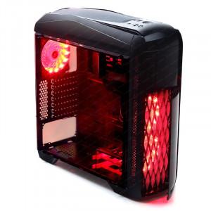 Dark Shadow 3x LED Fan, 1xUSB3.0, 2xUSB2.0 ATX Siyah Kasa (Akrilik Yan Panel)