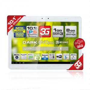 """Dark EvoPad 3G M1040 10.1"""" SIM Girişli Dört Çekirdekli IPS Panel 1GB DDR3 HDMI Android 4.2 Beyaz Tablet Bilgisayar"""