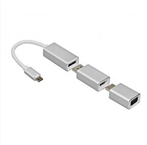 Dark USB 3.1 Type C - DP/HDMI/VGA 6X Dönüştürücü