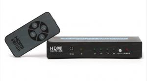 Dark 4 Giriş 1 Çıkışlı Uzaktan Kumandalı 4K HDMI Switch (Seçici)