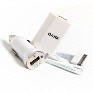Dark Apple iPad 1/2/3, iPhone, iPod 3'lü Araç, Ev, USB-30Pin Şarj Kiti