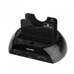 """Dark StoreX D23CR Çift 3.5""""/2.5"""" USB3.0 SATA Klon Destekli Kart Okuyuculu Disk İstasyonu"""