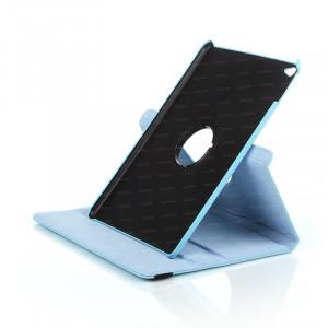 Dark iPad Air 2 360 Hareketli Mavi Deri Kılıf