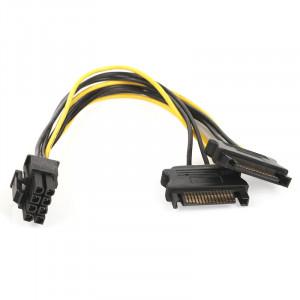 Dark 2x SATA - 6+2Pin PCI-EX Dönüştürücü Güç Kablosu