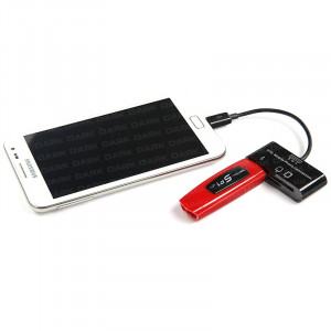 Dark Micro USB 2.0 Tablet ve Akıllı Telefon İçin USB Giriş ve Kart Okuyucu