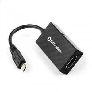 Dark Samsung 11Pin  MHL Micro USB-HDMI  Dönüştürücü (microUSB Erkek -HDMI Dişi)