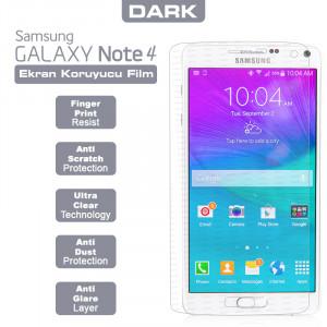 Dark Samsung Note 4 Yansıma Engelleyici Ekran Filmi