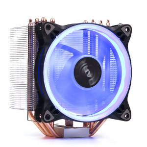 Dark Freezer X124 Intel LGA115X/2066 - AMD FM2/AM3/AM4 Uyumlu, 5x6mm Direct Contact Isı Borulu, 120mm Mavi Halka LED'li İşlemci Soğutucu