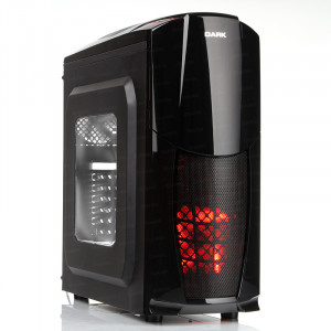 Dark Dragon 3x12cm Fan, 1xUSB 3.0, Pencereli ATX Siyah Kasa