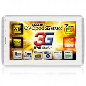 """Dark EvoPad 3G M7200 7"""" IPS 3G SIM Girişli 1GHz Dual Core 1GB DDR3 8GB And 4.1 Beyaz Tablet Bilgisayar"""