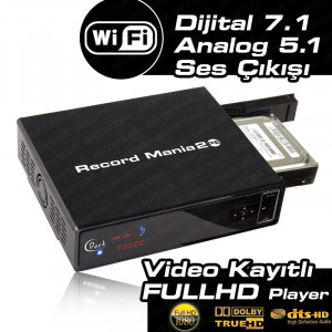 Dark Record Mania 2 Platinum WiFi,  Kayıt, 5.1 Analog Ses Çıkışı,1080p MKV, 7.1 DTS/Dolby Medya Oynatıcı