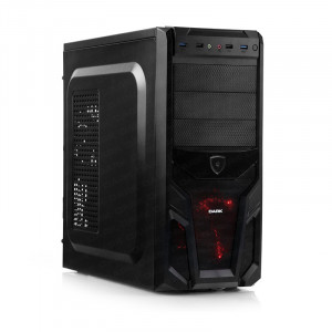 Dark Viper 2xUSB 3.0, 2x 12cm Fan SSD Ready ATX Siyah/Kırmızı Oyuncu Kasası