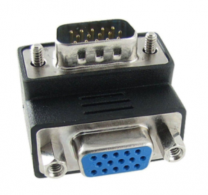 Dark VGA Erkek VGA Dişi 90 Derece Dirsek Dönüştürücü (DK-HD-AVGAX90)