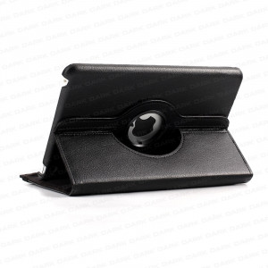 Dark i-Flip Mini 360 Derece Hareketli Yatay / Dikey 3 Kademeli iPad Mini Stand ve Deri Kılıf