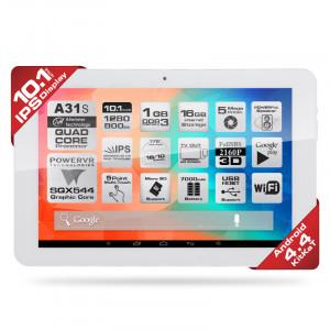"Dark EvoPad A1042 10.1"" Quad Core 1GB/16GB Android 4.4.2 KitKat Beyaz Tablet Bilgisayar"