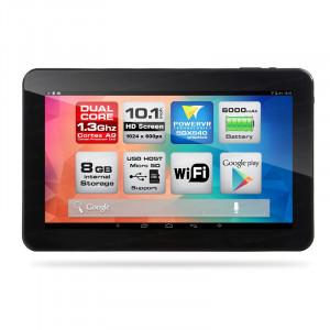 "Dark EvoPad C1024 10.1"" Çift Çekirdekli 8GB Android 4.4.2 KitKat Siyah-Beyaz Tablet Bilgisayar"