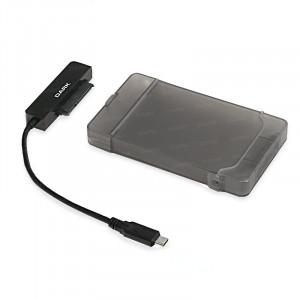 """Dark Storex E210 2.5"""" USB 3.1(Gen1) Type-C  Çıkarılabilir Başlıklı Şeffaf SATAI/II/III SSD/SSHD/HDD Disk Kutusu"""