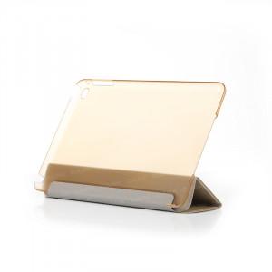 Dark iPad Mini4 Ön ve Arka Akıllı Deri Kılıf ve Stant (Altın)