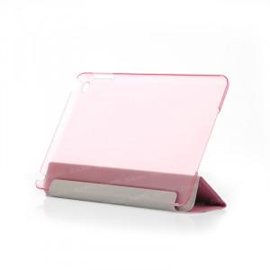 Dark iPad Mini4 Ön ve Arka Akıllı Deri Kılıf ve Stant (Pembe)