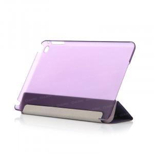 Dark iPad Mini4 Ön ve Arka Akıllı Deri Kılıf ve Stant (Mor)