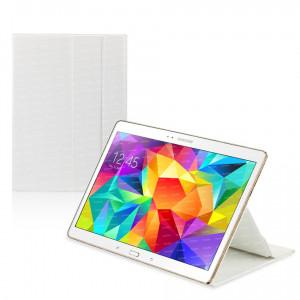"Dark Samsung Tab S T800 10.5"" Book Cover Beyaz Kılıf"