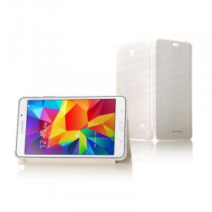 """Dark Samsung Galaxy TAB4 7"""" T230 Akıllı Deri Kılıf / Book Cover - Beyaz"""