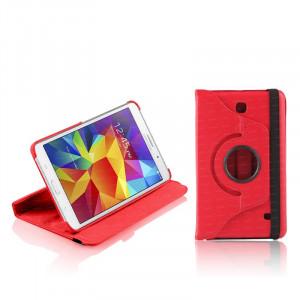"""Dark Samsung 7"""" Tab4 T230/T235 Uyumlu 360 Derece Hareketli Kırmızı Dönen Kılıf"""