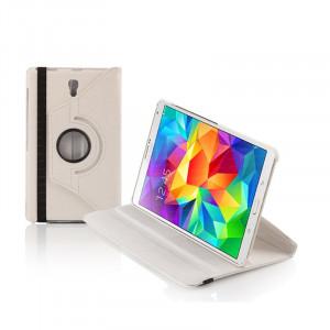 """Dark Samsung Tab S T700 8.4"""" 360 Döner Beyaz Kılıf"""