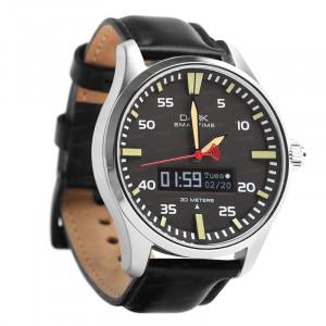 Dark SMARTIME Siyah Kadran / Klasik Kayışlı Akıllı Saat