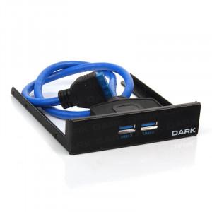 """Dark 2 x USB 3.0 3.5"""" Ön Panel (Anakart Bağlantılı)"""