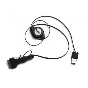Dark USB 2.0 - Mini USB / Micro USB / 30Pin Apple 3'lü Makaralı Şarj ve Data Kablosu