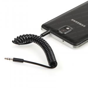 Dark 1Metre Spiralli 3.5mm Stereo iPhone Tipi Ses Bağlantı Kablosu