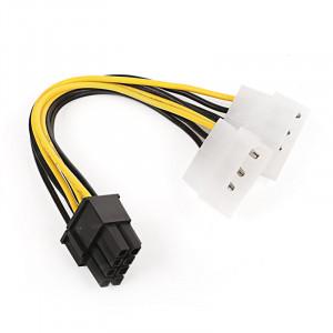 Dark 2x Molex 4Pin - 6+2Pin PCI-E Dönüştürücü Kablo
