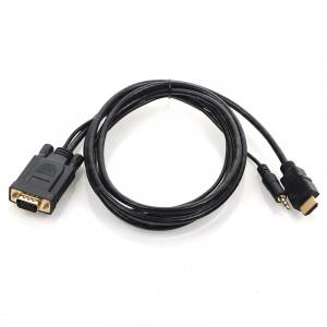 Dark HDMI - VGA Dijital - Analog Dönüştürücü Ses Destekli Kablo