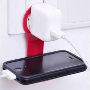 Dark Priz / Adaptör / Telefon Tutucu Askı (Beyaz)