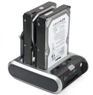 Dark DS03NW Combo Dual Çift SATA HDD, Kart Okuyuculu, Tek Tuş Yedeklemeli, eSATA/USB 2.0 Destekli Docking Station