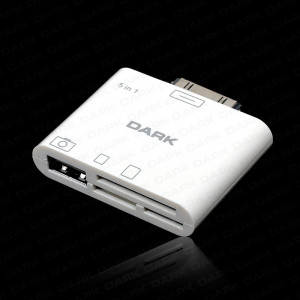 Dark iPad 5in1 Kart Okuyucu ve USB Kamera/Klavye Bağlantı Kiti (iPad/ 2 / 3 New iPad )