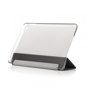 Dark iPad Mini4 Ön ve Arka Akıllı Deri Kılıf ve Stant (Siyah)