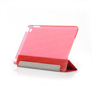 Dark iPad Mini4 Ön ve Arka Akıllı Deri Kılıf ve Stant (Kırmızı)