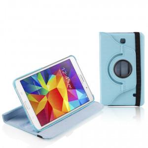 """Dark Samsung 7"""" Tab4 T230/T235 Uyumlu 360 Derece Hareketli Mavi Dönen Kılıf"""