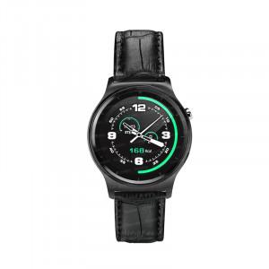 Dark SW08 Smart Design Android ve IOS Uyumlu Akıllı Saat (Siyah Deri Kayış)