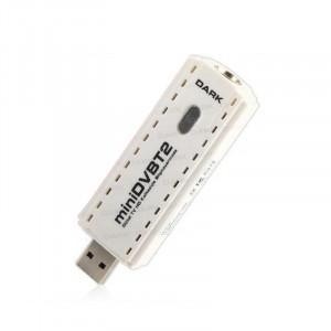 Dark miniDVBT2 Dijital Karasal Yayın Uyumlu Kayıt Özellikli Harici USB DVB-T2 HD TV Kartı
