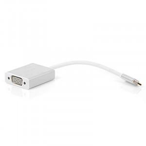 Dark USB 3.1 Type-C' den VGA Full HD Dönüştürücü Adaptör (Alüminyum Kasa)