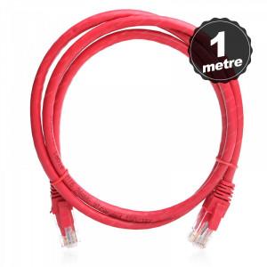 Dark 1m Cat6 CU AWG24/7 UTP Kırmızı Patch Network Kablosu