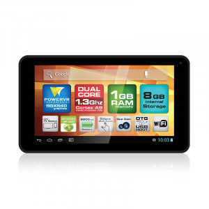 "Dark EvoPad C7026 7"" Çift Çekirdekli Mini HDMI, 8GB, Android 4.2 Siyah Tablet Bilgisayar"